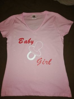 "Dames T-shirt Met "" Baby Girl """
